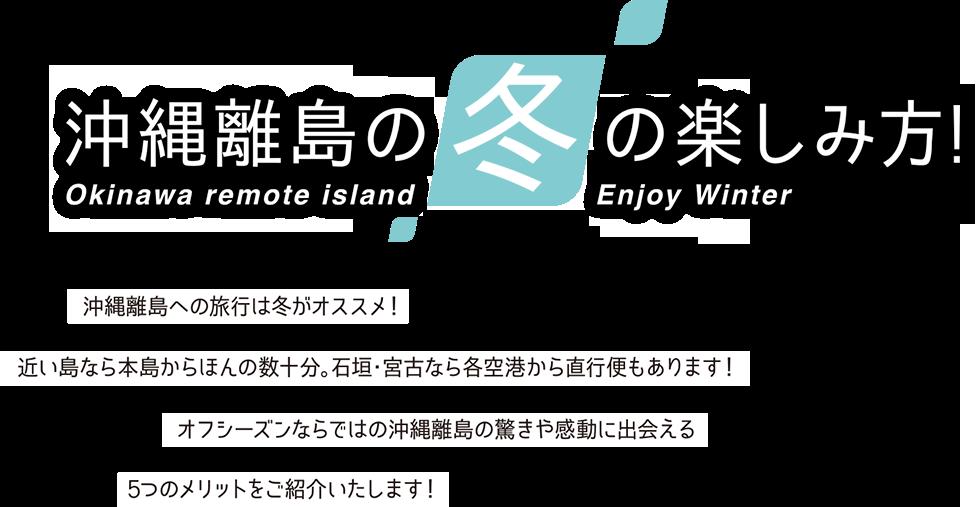 沖縄離島の冬の楽しみ方