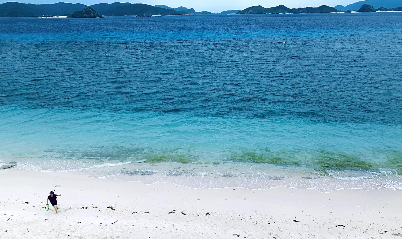 憧れのケラマブルーの海でSUP体験と、女子旅のんびり時間。
